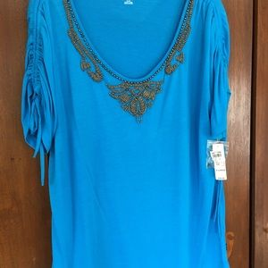 ANA Beaded Top size XL NEW